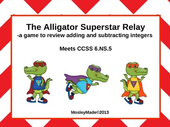Adding and Subtracting Integers Relay Race