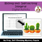 Adding and Subtracting Integers Self-Checking Mystery Puzzle