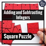 Integers Addition and Subtraction Square Puzzle