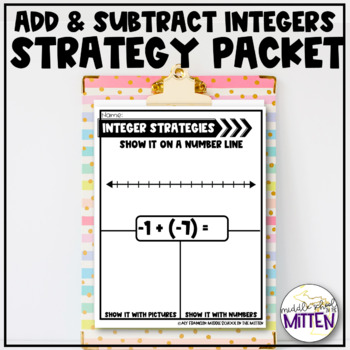 Adding and Subtracting Integers Strategies Packet