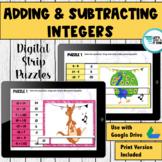 Adding and Subtracting Integers Digital Puzzle | Google Classroom