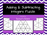 Adding and Subtracting Integers Tarsia Puzzle