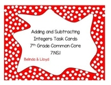 Adding and Subtracting Integers Task Cards 7th Grade Common Core Aligned 7.NS.A1