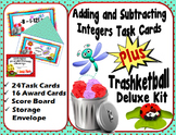Adding and Subtracting Integers Task Cards Plus Trashketball Kit