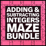 Adding and Subtracting Integers - Middle School Math Maze Bundle
