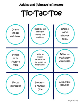 Learn how to use Tic-Tac-Toe to help you with integer ...