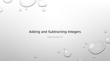 Adding and Subtracting Integers Using a Number Line