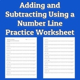 Adding and Subtracting Integers Using a Number Line Worksheet
