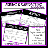 Adding and Subtracting Integers (Word Problems & Basic Skills)