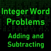 Adding and Subtracting Integers Word Problems Multiple Choice