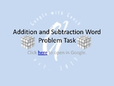 Adding and Subtracting Integers Word Problems Task