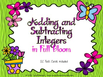 Adding and Subtracting Integers in Full Bloom Task Cards