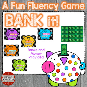 Adding and Subtracting Integers interactive game Bank It