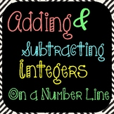 Adding and Subtracting Integers on a Number-Line
