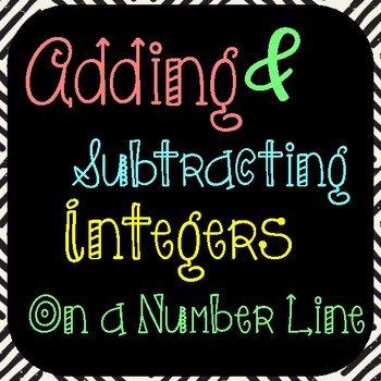 Adding and Subtracting Integers on a Number-Line 6th & 7th grade