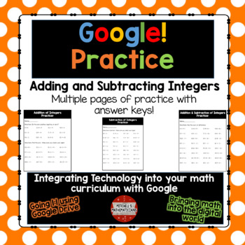 Adding and Subtracting Integers using Google Drive