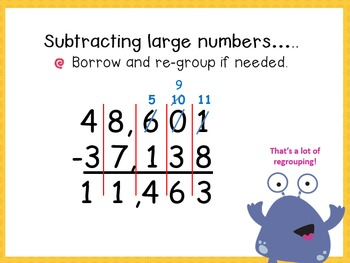 Adding and Subtracting Large Numbers- 4.NBT.4