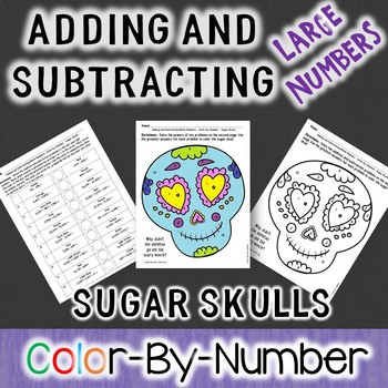 Halloween Adding and Subtracting Large Numbers