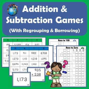 Adding and Subtracting Learning Pack with Regrouping and Borrowing