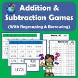 Addition & Subtraction Games with Regrouping and Borrowing