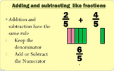 Adding and Subtracting Like Fractions