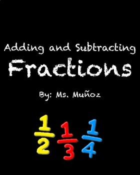 Adding and Subtracting Like Fractions BINGO