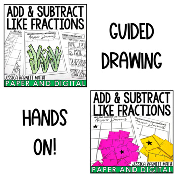 Add and Subtract Like Fractions Activity Pack