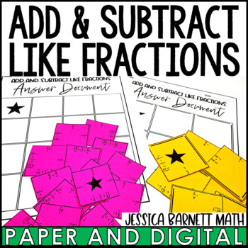 Adding and Subtracting Like Fractions Puzzle