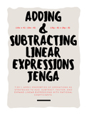 Adding and Subtracting Linear Expressions JENGA