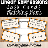 Adding and Subtracting Linear Expressions Matching Game Ta