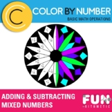 Adding and Subtracting Mixed Numbers Color by Number