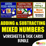 Adding And Subtracting Mixed Numbers Activity With Mystery Picture Task Cards
