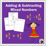 Fractions Worksheets Grade 4-5 Mixed Numbers Add and Subtract