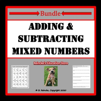 Adding and Subtracting Mixed Numbers Package (7 products)
