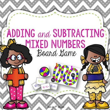Adding and Subtracting Mixed Numbers: Board Game