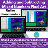 Adding and Subtracting Mixed Numbers Digital Pixel Art Reveal
