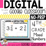 Adding and Subtracting Mixed Numbers Digital Task Cards for Google Classroom