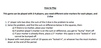 Adding and Subtracting Mixed Numbers (Unlike Denominators) Game