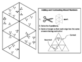 Adding and Subtracting Mixed Numbers Game: Math Tarsia Puzzle