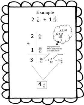 Adding and Subtracting Mixed Numbers Guide