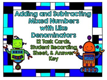 Adding and Subtracting Mixed Numbers-Like Denominators-12