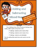 Adding and Subtracting Mixed Numbers Like Denominators Regrouping Game Survivor