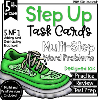 Adding and Subtracting Mixed Numbers Multi-Step Word Problems 5th Grade 5.NF.1