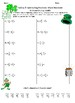 Adding and Subtracting Mixed Numbers St. Patrick's Day Riddle