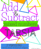 Adding and Subtracting Mixed Numbers Tarsia Activity