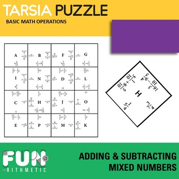 Adding and Subtracting Mixed Numbers Tarsia Puzzle