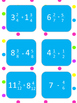 Adding and Subtracting Mixed Numbers Tic Tac Toe
