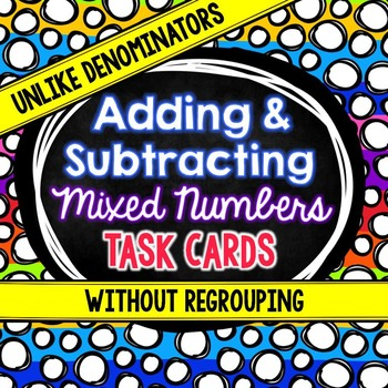 Adding and Subtracting Mixed Numbers With Unlike Denominators