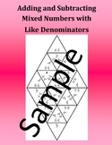 Adding and Subtracting Mixed Numbers with Like Denominators – Math Puzzle