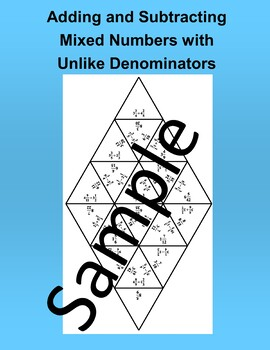 Adding and Subtracting Mixed Numbers with Unlike Denominators – Math Puzzle